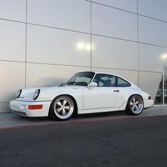 Gorgeous vintage Porsche in white.