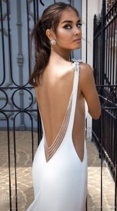 weddingdress open back elihav sasson 2018 capsule bridal sleeveless bateau neck simple clean bodice open side drop waist elegant a line weddng dress low open back chapel train zbv -- Elihav Sasson 2018 Royalty Girl Capsule Collection Simple Wedding Gowns, Sexy Wedding Dresses, Bridal Dresses, Prom Dresses, Backless Dresses, Boat Neck Wedding Dress, Lace Dresses, Simple Weddings, Trendy Wedding