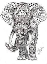 Resultado de imagen de mandalas elefantes para colorear