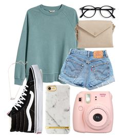 """""""Don't be afraid to show who you really are!"""" by jadenriley21 on Polyvore featuring H&M, Vans, Levi's, Street Level, Kendra Scott and Fujifilm"""