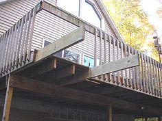 How To Build Tall Outdoor Stairs For A High 2nd Story Deck Or Balcony Planning Your Yard