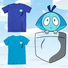 Aquamarine Pocket Tshirt by Slothgirlart based on the Homeworld Gem from the cartoon Steven Universe. Click on the pic to find links to where it on Redbubble, Society6, and more!