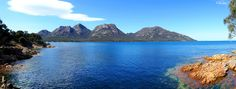 ✣ Freycinet National Park Hazards Range ✣  Photograph © Ellen Vaman www.facebook.com/ellen.vaman1 #EllenVaman #Photography #Tasmania #HazardsRange #FreycinetNationalPark #Wilderness #Nature #Travel #Earth