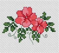 cross stitch pattern with delicate pink flowers.Surprise someone with this hand-made card and best wishes.Small cross stitch pattern with delicate pink flowers.Surprise someone with this hand-made card and best wishes. Small Cross Stitch, Butterfly Cross Stitch, Cross Stitch Cards, Cross Stitch Rose, Cross Stitch Borders, Cross Stitch Designs, Cross Stitch Embroidery, Embroidery Patterns, Cross Stitch Patterns