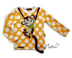 monkey on shirt - so cute