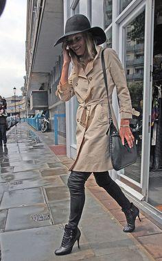 Así son las nuevas gabardinas: Kate Moss