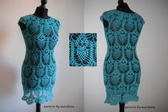 Free crochet patterns and video tutorials: How to crochet pineapple dress tunic with owls fre...