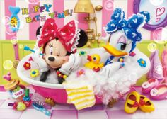 Disney Minnie & Daisy Happy Birthday 3D Lenticular Greeting Card / Disney 3D Postcard