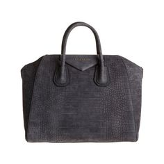 Givenchy Croc-Stamped Medium Antigona Duffel (130 CAD) ❤ liked on Polyvore featuring bags, luggage and purses