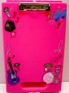 Pink Clip Board Girl's Rock & Roll