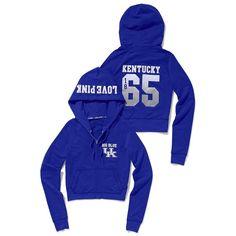 Victoria's Secret University Of Kentucky Shrunken Zip Hoodie ($55) ❤ liked on Polyvore