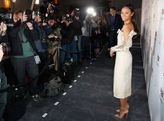 Zoe Saldana from The Big Picture: Today's Hot Photos  Photo frenzy! The actress, who just welcomed her third child, poses during an event in Los Angeles.