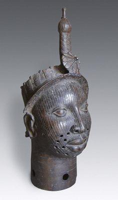 Bronze Head-sculpture, Benin / Ife, Nigeria