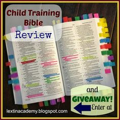Lextin Academy of Classical Education: {Review} Child Training Bible