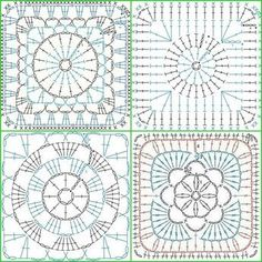 photo from album Motifs Granny Square, Granny Square Crochet Pattern, Crochet Diagram, Crochet Squares, Crochet Granny, Granny Squares, Crochet Stitches Chart, Crochet Motif Patterns, Crochet Blocks