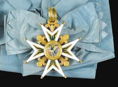 Order of the Holy Spirit, enameled gold cross, probably made by Coudray between 1791 and 1814, and probably from Louis-Philippe d'Orleans (1773-1850), the future King Louis-Philippe
