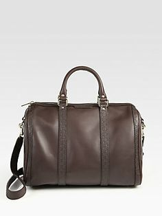 Love this in cocoa! Gucci Vintage Web Medium Boston Bag