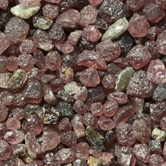 Garnet sand from Emerald Creek, Idaho — might just have to pop over to collect some when I visit Nancy... hmm, it's an idea. #arenophile