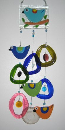 Blue Bird Glass Wind Chime ~~~oh So Pretty!  $49.95