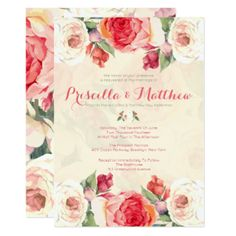 The 95 best i do images on pinterest zazzle invitations bridal peachy peonies floral wedding card zazzle invitationswedding stopboris Gallery