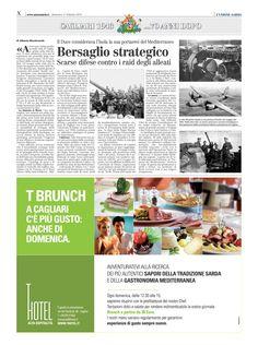 """L'Unione Sarda. 17 febbraio 2013. Speciale Cagliari 1943. 70 anni dopo. Alberto Monteverde. """"Cagliari Bersaglio strategico""""."""