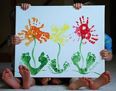 Here Are Some Of My Handprint And Footprint Art Creations I Found This