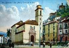 Postales antiguas de Granada: Santa Ana y Torre de la Vela