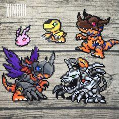 Digimon perler beads