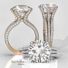 Bez Ambar's Octopus Ring in 18k white, rose and yellow gold #diamondjewelry  www.bezambar.com