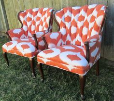 Vintage Channel Back Chairs Design Your Own Pair by livenUPdesign, $650.00