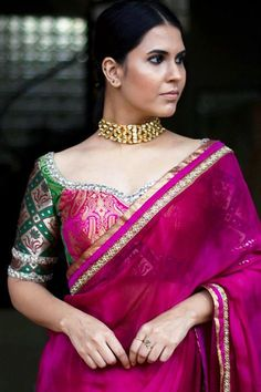 These Party Wear Blouses Can Make Your Sarees Look Ultra Beautiful! blousedesigns These Party Wear Blouses Can Make Your Sarees Look Ultra Beautiful! Fancy Blouse Designs, Bridal Blouse Designs, Blouse Neck Designs, Dress Designs, Sari Design, Diy Design, Interior Design, Party Kleidung, Stylish Blouse Design