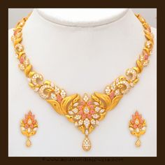 Gold Stone Necklace set from VBJ, Gold Necklace Collections by VBJ, VBJ Jewellers Necklace Collections. Stone Necklace, Necklace Set, Gold Necklace, Gold Bangles Design, Jewelry Design, Bridal Jewelry Sets, Schmuck Design, Necklace Designs, Gold Jewelry