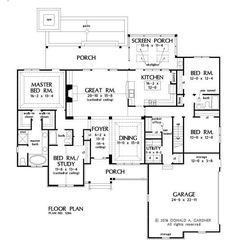 Plan of the Week under 2500 sq ft - The Astaire 1286!  2295 sq ft, 4 beds, 3 baths. #WeDesignDreams