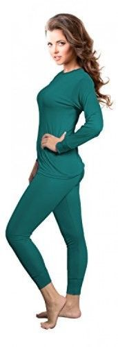 a441bf1a Rocky Womens Thermal Long John Underwear Set Top and Bottom Smooth Knit  (2Xlarge, Teal)