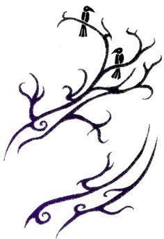 Yggdrasil design base with Odin's ravens Huginn (thought) and Muninn (memory). @Devaki Solomon, this is a neat tattoo idea! ;)