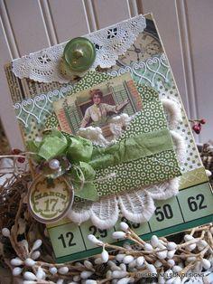 victorian st patricks day card-st patties greeting handmade card
