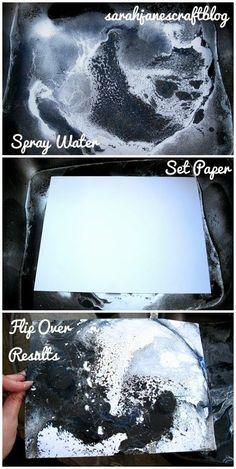 Spray Paint Marbling   -  #SprayPainting #SprayPaintingFurniture #SprayPaintingLamp Spray Paint Artwork, Spray Painting, Spray Paint Techniques, Painting Techniques, Spray Paint Projects, Craft Projects, Marble Painting, Painting Art, Watercolor Painting