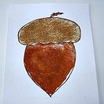Fall Acorn Craft For Kids.   !The Busy Little Squirrel by Nancy Tafuri is a wonderful snack for Chipper :)
