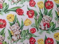 Vintage Gift Wrapping Paper  Floral by TheGOOSEandTheHOUND on Etsy, $4.25