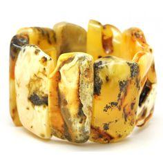 Amber bracelets | Natural shapes Baltic amber bracelet 58 g .