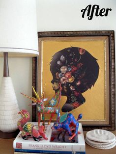 Life as a Thrifter: Wednesday Redo: Thrift Store Art turned silhouette
