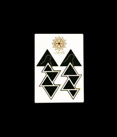 Jenia . lasercut poplar wood . triangle earrings . contemporary jewelry design www.jeniadesign.com