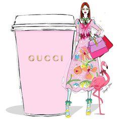 Fashion Girl Illustration Shopping Megan Hess Ideas For 2019 Megan Hess Illustration, Fashion Illustration Sketches, Illustration Girl, Fashion Sketches, Gucci, Fashion Prints, Fashion Art, Paper Fashion, Trendy Fashion