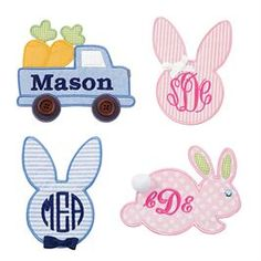Mud Pie, Mudpie,Monogrammable Easter Patches