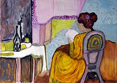Le boudoir 50x70 cm Öl Boudoir, Painting, Pictures, Powder Room, Painting Art, Paintings, Painted Canvas, Drawings, Side Table Styling