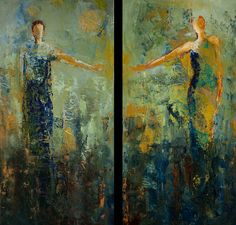 Shelby McQuilkin--Mixed Media, oil painting, abstract figurative