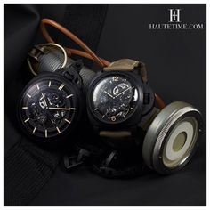 Two of our favorites Tourbillons produced by @panerai  Shot at Panerai Exhibition at Ion Orchard in Singapore #Panerai #HauteTime #singapore  By @a.thousand.words and styled @ong.weisheng by hautetimeasia