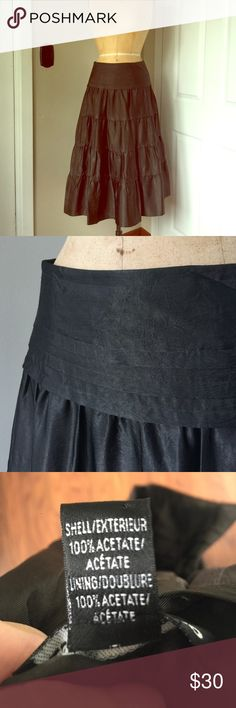 "Club Monaco long tiered skirt Brown/ black long tiered skirt by Club Monaco.wear with boots and a chunky midriff sweater! 30"" from waist to hem. Fully lined, dry clean😊 Club Monaco Skirts Midi"