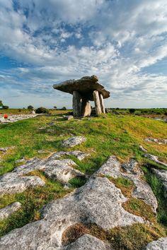 Poulnabrone dolmen County Clare Ireland by Sean Burke on Places Around The World, Travel Around The World, Around The Worlds, Cairns, Wales, Clare Ireland, County Clare, Ireland Homes, Ancient Mysteries