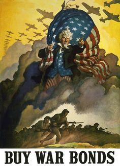 Buy War Bonds - Vintage Poster
